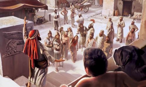 Jonah preached in Nineveh